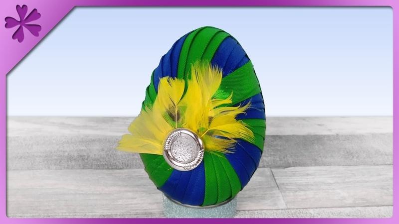 DIY Twisted ribbon Easter Egg 🌪🙃 (ENG Subtitles) - Speed up 670