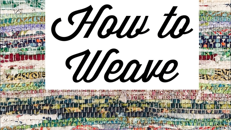Rag weaving rigid heddle loom learn to weave quilting scraps