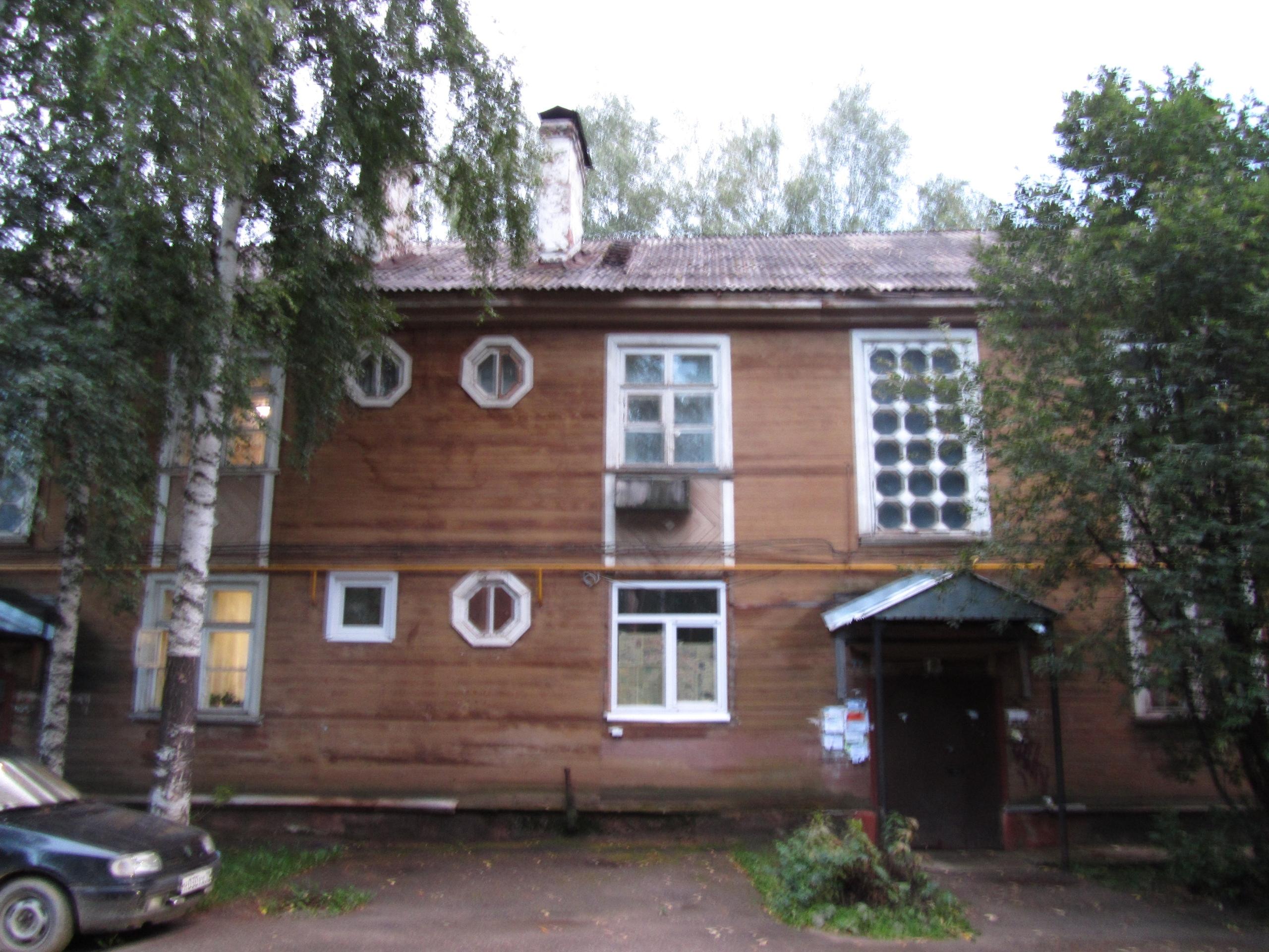 особняк необычного покроя.в городе Ухта