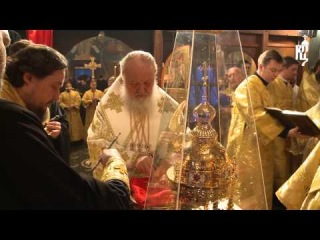Патриарх Кирилл освятил храм Сошествия Святого Духа в пос. Первомайское г. Москвы