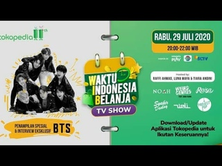 [Live] BTS Tokopedia Waktu Indonesia Belanja TV Show in Indonesia