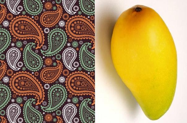 Кто бы мог подумать, но известный узор «пейсли», или «индийский огурец», на самом деле изображает вовсе не огурцы, а манго