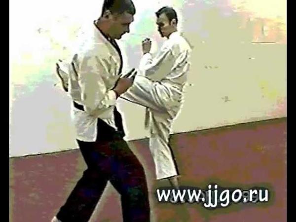 Защита от удара ногой.