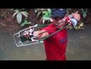 How To Make Powerful Slingshot From Motorbike Parts | Powerful Slingshot VS Huge Fish