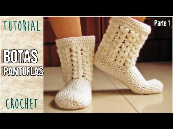 Como tejer medias pantuflas a crochet todos los talles Parte 1 3