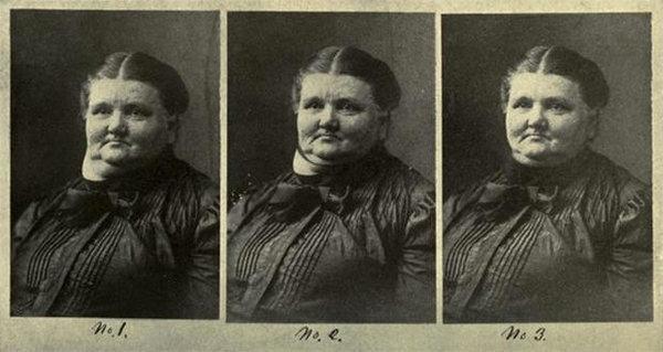 Результаты работы с фото в XIX веке. Светской даме долго и тщательно исправляли шею и другие огрехи.