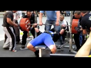 Csepregi Zoltan, жим 370 кг при с.в. 108, 2 кг на ЧМ WUAP 2012!