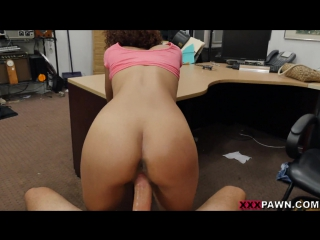Raven redmond - powerful sex with cute ebony in pawn shop (porn, sex, blowjob, pov, порно, секс, сиськи, попка, минет)