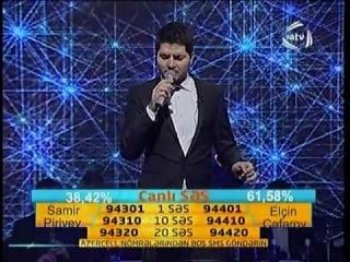"""Elcin Ceferov & Samir Piriyev Duel """"Canli Ses"""" part1"""