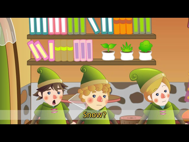Snow White - It's not raining. It's snowing (Weather) - English Famous Story for Kids