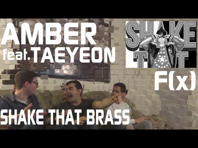 Amber feat. Taeyeon Shake That Brass Music Video Reacton Non Kpop Fan Reaction HD