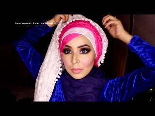Zigzag Criss Cross Bridal Hijab Tutorial ft.  |fatihasWORLD