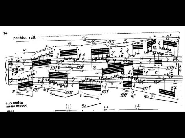 Brian Ferneyhough Lemma Icon Epigram w score for piano solo 1981