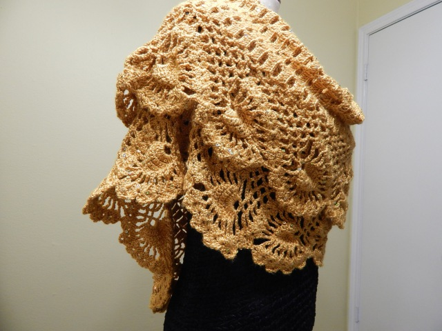 Chal Crochet Orilla de Piñas parte 1 de 3