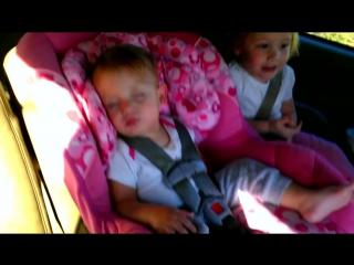 My little girl amaya peacefully sleeping.until her favorite song comes on! original