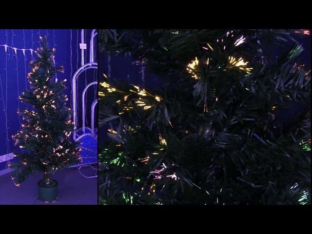 Новогодняя Ель фибро оптика 150 см 160 веток арт 533 206