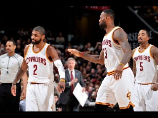 Kyrie Irving scores his first points of the season!