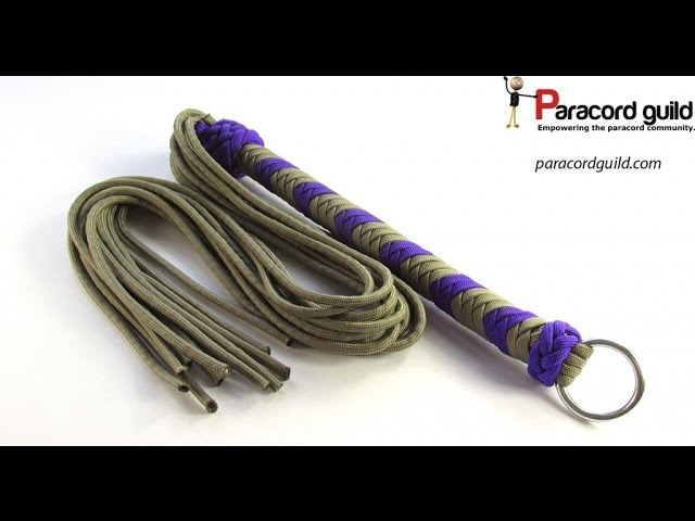 How to make a paracord flogger