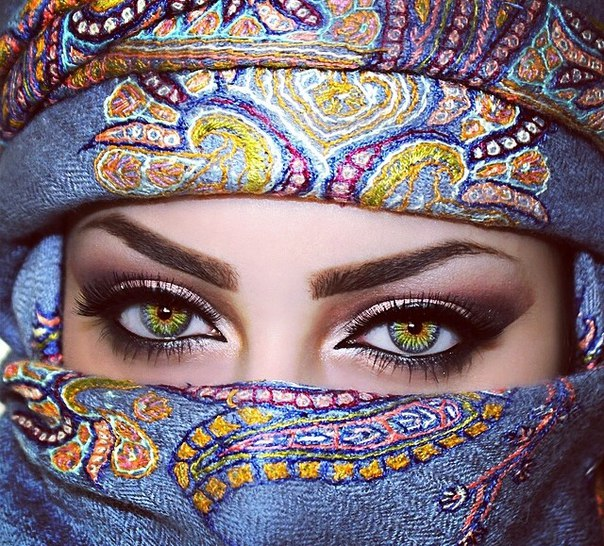 Глаза восточные рисунок