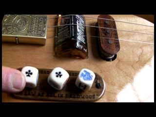 3 STRING CIGAR BOX INSPIRED GUITAR WITH JACK DAINELS BRIDGE THE DEADWOOD MK-3