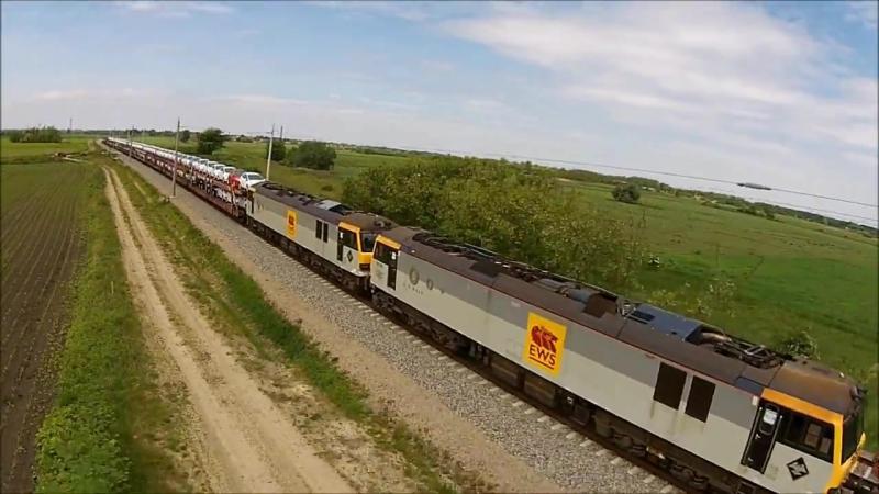 Class 92 es mozdonyok szallitasa Gyoma kozeleben