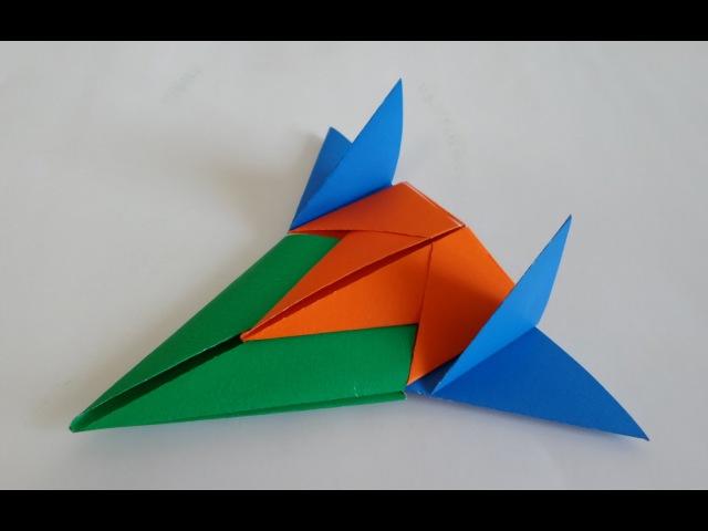 3단 합체 우주선 비행기 종이접기 (How to make a paper spaceship - Origami)