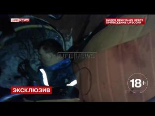 ✔ ОСОБОЕ МНЕНИЕ: Опубликовано первое видео с рухнувшим в Ленобласти вертолётом