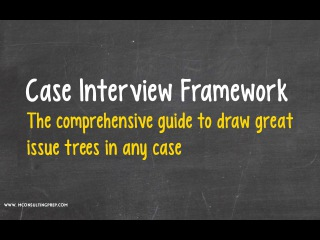 Case Interview Frameworks - Templates for drawing great Issue Trees