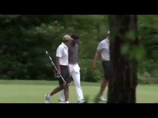 Steph Curry and Dell Curry Golf with President Barack Obama