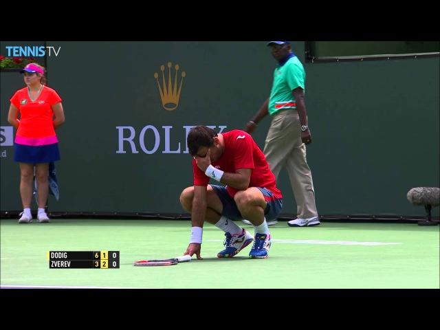 Dodig Suffers Nasty Blow Indian Wells 2016