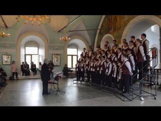 Владимирская капелла мальчиков и юношей. Высоко-Петровский монастырь, 2016