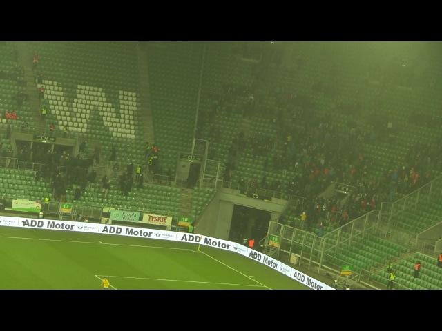 Śląsk Arka Spina na stadionie