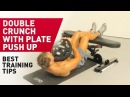Double Crunch with Plate Push Up Technique FitABS Exercise Guide