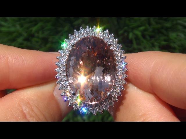 Natural Morganite Diamond Ring