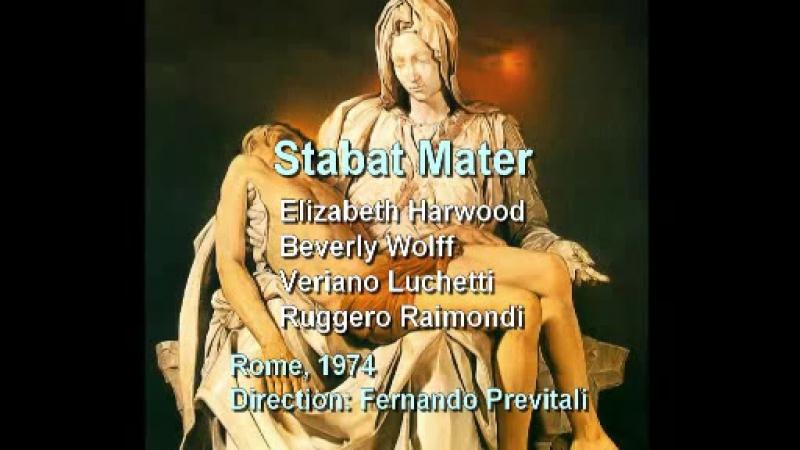Stabat Mater Luchetti Raimondi Harwood Wolff Previtali Roma 1974