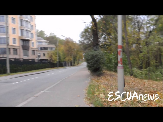 Eurovision 2017 Road from the Arsenalna metro station to the CEC Parkovy Euroclub