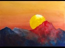 Dramatic Sunset watercolor tutorial, an easy step by step painting irmgardart
