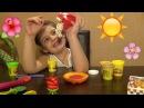 Игры для девочек Распаковка Пластилин ПЛЕЙ ДО Пицца