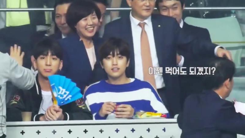 FANCAM 161019 Sandeul @ Woori Card Wibee Volleyball Club