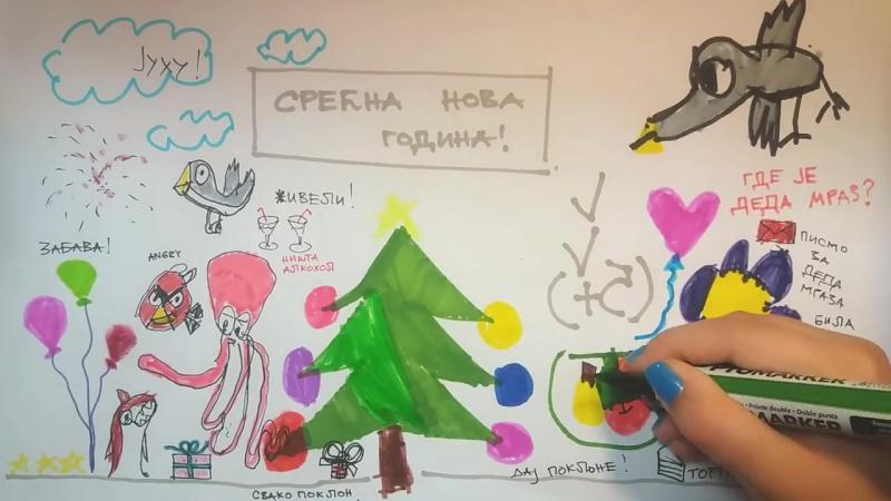Zemlja gruva Srecna Nova godina 2017 zeli Vam Ana Djuric Konstrakta i Ana Radonjic Zoje Kida