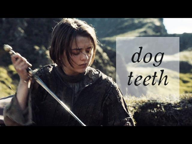 Arya Stark the hound Dog Teeth