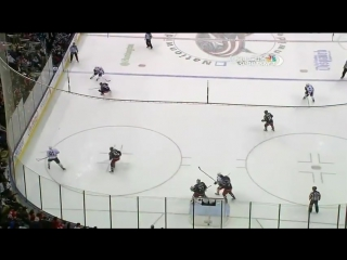 Sergei Bobrovsky makes sick save to keep the game tied in OT 3⁄14⁄13 / Сейв Бобровского