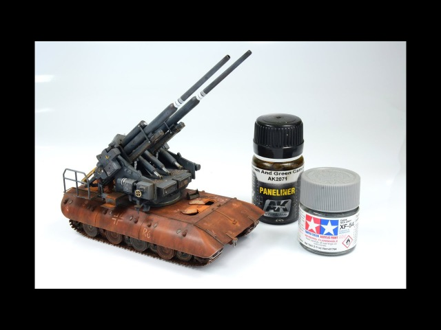 FlaK 40 Zwilling auf E 100 1 72 Modelcollect tank model