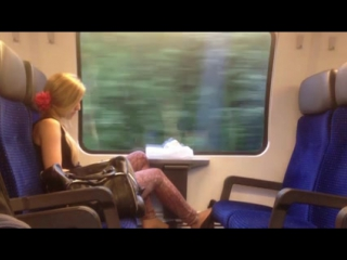 Flash and cum on train #4