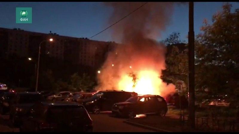 На Кременчугской улице в Москве произошел пожар