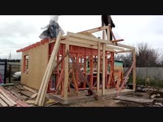 Каркасный дом, стройка - Проект  Дача