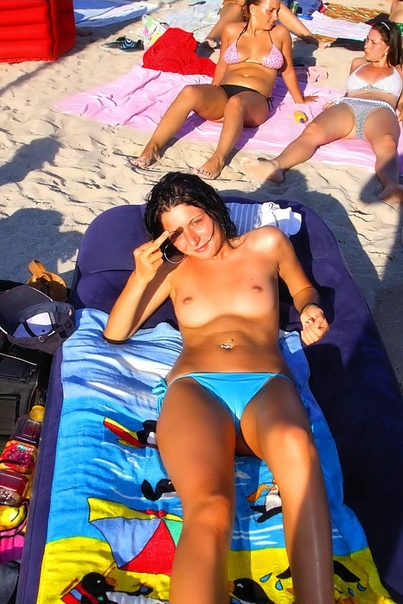 Topless girl text message