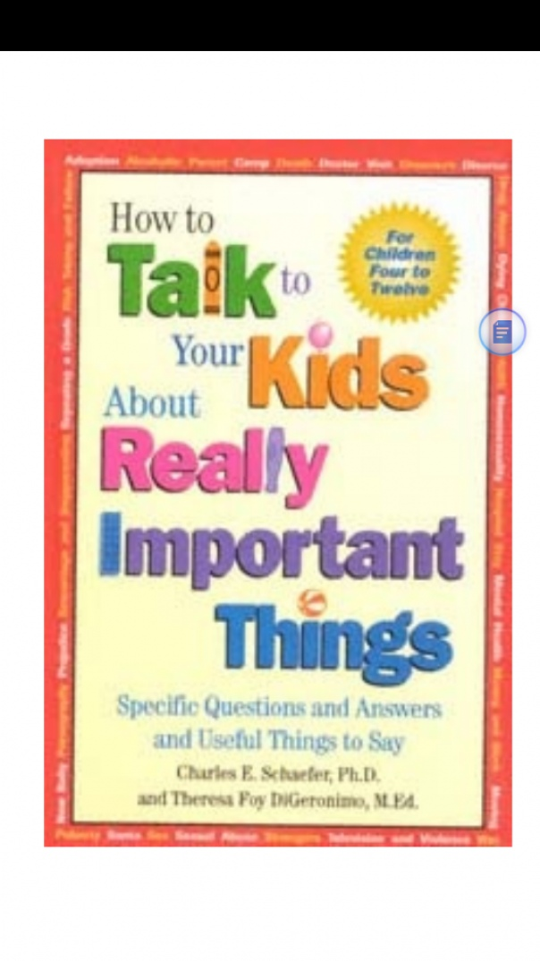how to talk to kids about really imp things