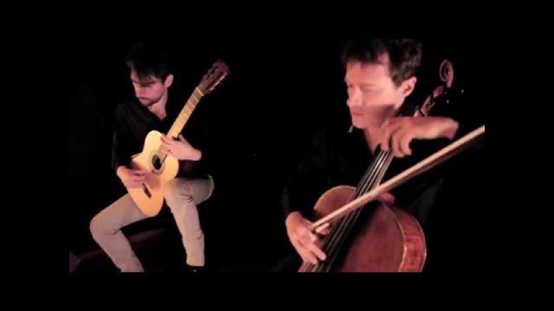 Jouve Salque plays SONATE for guitar cello by Duplessy