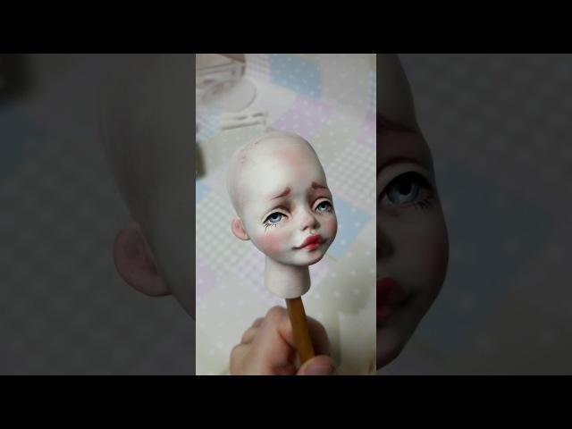 Кукла из флюмо Часть 2 Роспись кракелюр